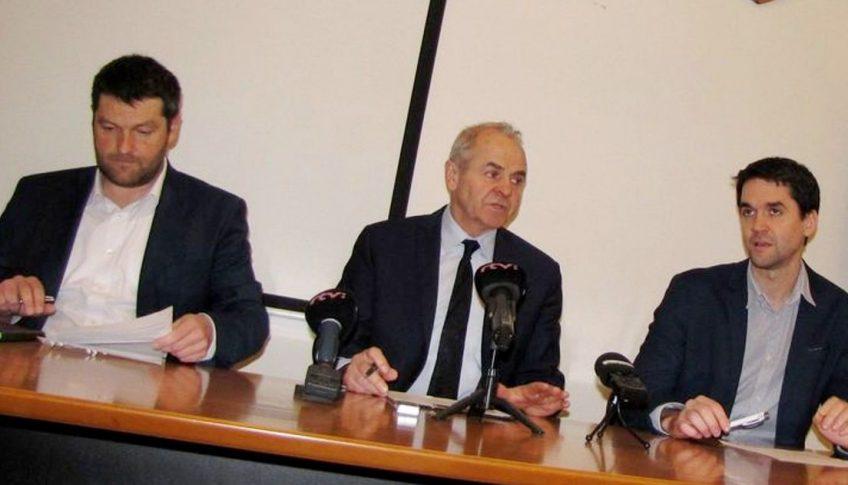 Zľava Tomáš Mišovič, Ján Lunter a Ondrej Lunter BBSK