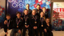 FOTO: Úspešní mladí karatisti ŠK CMK Banská Bystrica na turnaji v Rijeke