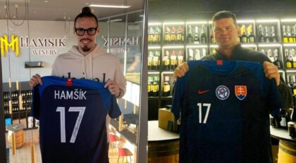 foto: zľava Marek Hamšík a Anton Minárik