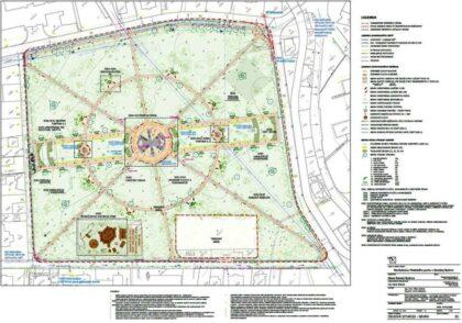 Pôdorys revitalizácie mestského parku
