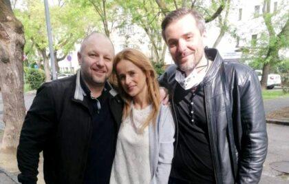 Zľava Martin Ribár s manželkou a Matej Marhavý