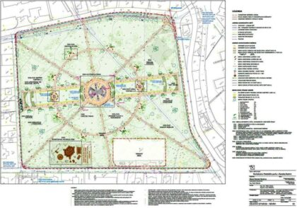 Pôdorys obnoveného historického parku