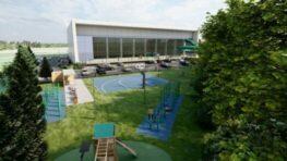 FOTO: Na Štiavničkách začala komplexná rekonštrukcia vonkajšieho areálu krytej plavárne