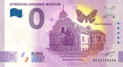 Tihányiovský kaštieľ s Okáňom hruškovým na novej eurobankovke