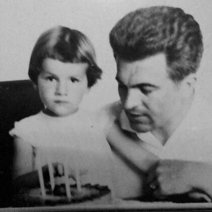 Jozef Komoň s dcérou Dankou