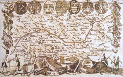 Mapa banských miest