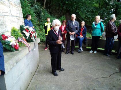 Eva Holéczyová, v pozadí bývalý podpredseda oblastného SZPB Matej Kán