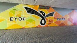 Galéria v podchode pozýva na blížiaci sa EYOF 2022